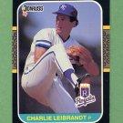 1987 Donruss Baseball #220 Charlie Leibrandt - Kansas City Royals