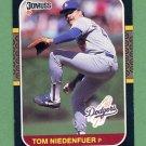 1987 Donruss Baseball #218 Tom Niedenfuer - Los Angeles Dodgers
