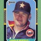 1987 Donruss Baseball #209 Charlie Kerfeld - Houston Astros