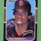 1987 Donruss Baseball #187 Dave Dravecky - San Diego Padres NM-M