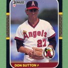 1987 Donruss Baseball #181 Don Sutton - California Angels