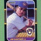 1987 Donruss Baseball #172 Jim Gantner - Milwaukee Brewers