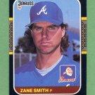 1987 Donruss Baseball #167 Zane Smith - Atlanta Braves