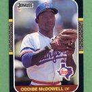 1987 Donruss Baseball #161 Oddibe McDowell - Texas Rangers