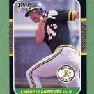 1987 Donruss Baseball #158 Carney Lansford - Oakland A's