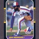 1987 Donruss Baseball #098 Jeff Reardon - Montreal Expos