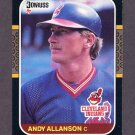 1987 Donruss Baseball #095 Andy Allanson RC - Cleveland Indians