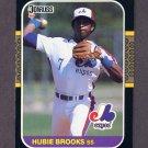 1987 Donruss Baseball #088 Hubie Brooks - Montreal Expos