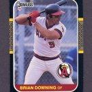 1987 Donruss Baseball #086 Brian Downing - California Angels