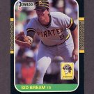 1987 Donruss Baseball #079 Sid Bream - Pittsburgh Pirates
