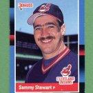 1988 Donruss Baseball #596 Sammy Stewart - Cleveland Indians