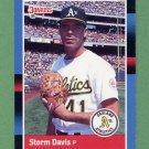 1988 Donruss Baseball #595 Storm Davis - Oakland A's
