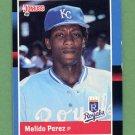 1988 Donruss Baseball #589 Melido Perez RC - Kansas City Royals