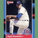 1988 Donruss Baseball #584 Doyle Alexander - Detroit Tigers