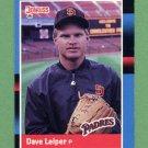1988 Donruss Baseball #557 Dave Leiper - San Diego Padres