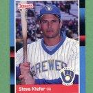 1988 Donruss Baseball #542 Steve Kiefer - Milwaukee Brewers