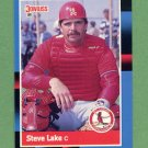 1988 Donruss Baseball #510 Steve Lake - St. Louis Cardinals