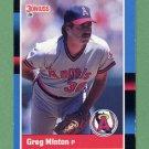 1988 Donruss Baseball #505 Greg Minton - California Angels