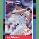 1988 Donruss Baseball #474 Joel Skinner - New York Yankees