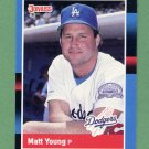 1988 Donruss Baseball #423 Matt Young - Los Angeles Dodgers