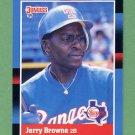 1988 Donruss Baseball #408 Jerry Browne - Texas Rangers