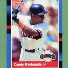 1988 Donruss Baseball #391 Candy Maldonado - San Francisco Giants