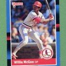 1988 Donruss Baseball #307 Willie McGee - St. Louis Cardinals
