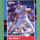 1988 Donruss Baseball #253 Bob Welch - Los Angeles Dodgers