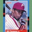 1988 Donruss Baseball #236 Milt Thompson - Philadelphia Phillies