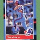 1988 Donruss Baseball #212 Vance Law - Montreal Expos