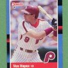 1988 Donruss Baseball #207 Von Hayes - Philadelphia Phillies