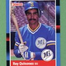 1988 Donruss Baseball #198 Rey Quinones - Seattle Mariners