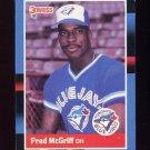 1988 Donruss Baseball #195 Fred McGriff - Toronto Blue Jays Vg