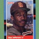 1988 Donruss Baseball #187 Stan Jefferson - San Diego Padres