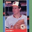 1988 Donruss Baseball #125 Eric Bell - Baltimore Orioles
