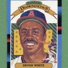 1988 Donruss Baseball #008 Devon White DK - California Angels