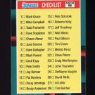 1988 Donruss Rookies Baseball #56 Checklist 1-56