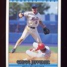 1992 Donruss Baseball #372 Gregg Jefferies - New York Mets