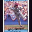1992 Donruss Baseball #353 Mitch Williams - Philadelphia Phillies