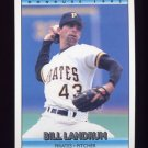 1992 Donruss Baseball #221 Bill Landrum - Pittsburgh Pirates