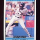 1992 Donruss Baseball #220 Alex Cole - Cleveland Indians