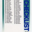 1992 Fleer Baseball #719 Checklist 495-596