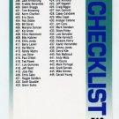 1992 Fleer Baseball #718 Checklist 398-494