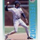 1992 Fleer Baseball #604 Tony Fernandez - San Diego Padres