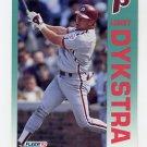 1992 Fleer Baseball #529 Len Dykstra - Philadelphia Phillies