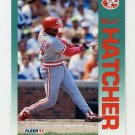 1992 Fleer Baseball #409 Billy Hatcher - Cincinnati Reds