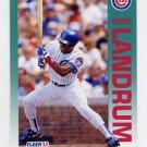 1992 Fleer Baseball #385 Cedric Landrum - Chicago Cubs