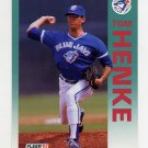1992 Fleer Baseball #331 Tom Henke - Toronto Blue Jays