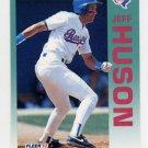 1992 Fleer Baseball #308 Jeff Huson - Texas Rangers