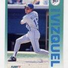 1992 Fleer Baseball #296 Omar Vizquel - Seattle Mariners